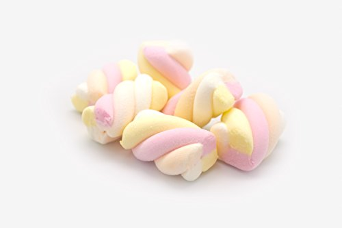 Hoosier Hill Farm Belgian Marshmallow Twists. Pink, Yellow, Cream and White, 2.2 lbs (1kg) Strawberry flavoured by Hoosier Hill Farm
