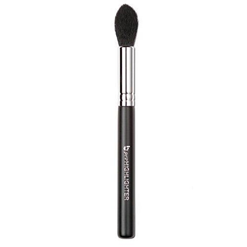 Dome Makeup Brush (pro Tapered Highlighter Makeup Brush: Vegan Synthetic Bristles for Highlighting and Contouring Face; Small Tapered Point to Highlight Eyes, Brows; Works with Creams, Powders, Minerals)