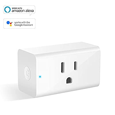 Smart Plug, WiFi Remote Control Outlet, Electrical Socket Compatible with Alexa, Google Home Mini, Timer Outlet, No Hub Required Plugs