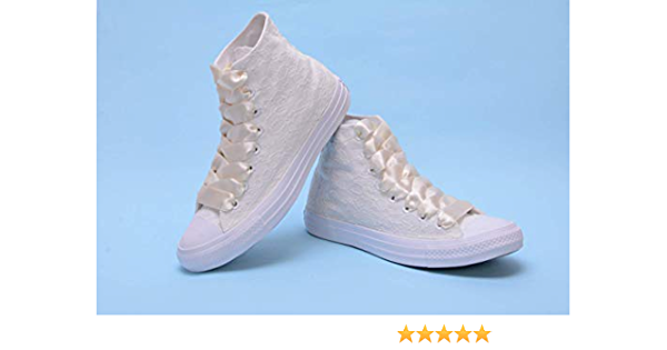 Ivory High Top Wedding Sneakers For