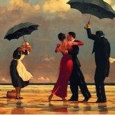 """ The Singing Butler "" Jack Vettriano Open greeting Card - HPCSQ001 HEARTBREAK PUBLISHING"