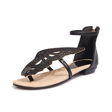 Zormey La Mujer Sandalias Verano Zapatos Club Comfort Novedad Polipiel Boda Vestido Exterior Casual Bowknot Talón Plano US10.5 / EU42 / UK8.5 / CN43