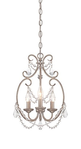 Designers Fountain Contemporary Chandelier - Designers Fountain 6205-AP Dahlia 3 Light Mini Chandelier
