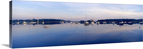 Ma Harbor - Canvas on Demand Premium Thick-Wrap Canvas Wall Art Print entitled West Falmouth Harbor West Falmouth MA 60