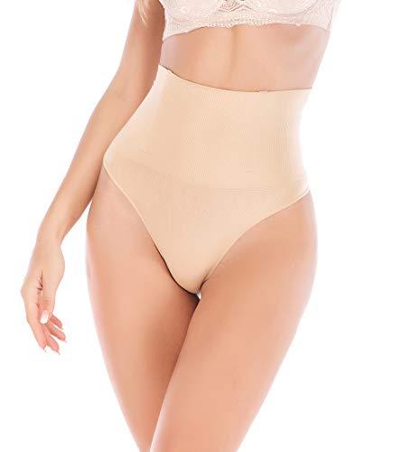 (JANSION Women High Waist Cincher Girdle Tummy Slimmer Butt Lifter Thong Panty Shapewear)