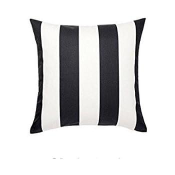 Amazon Com Ikea Vargyllen Striped Black And White 100