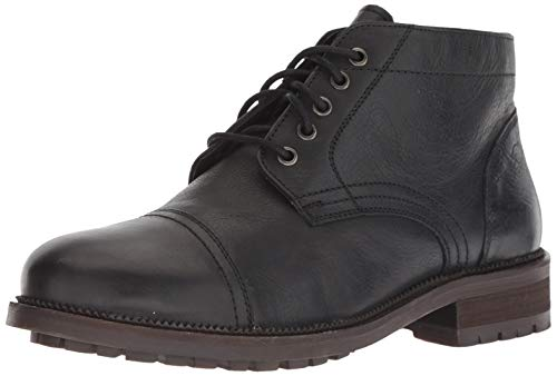 Dr. Scholl's Shoes Men's Airborne Oxford Boot, Black Leather, 10.5 M US
