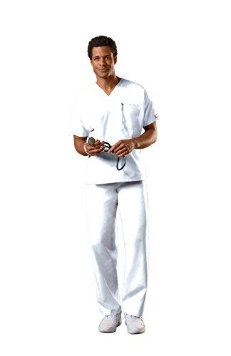 Cherokee Uniforms Authentic Workwear Unisex Scrub Set (White, M)