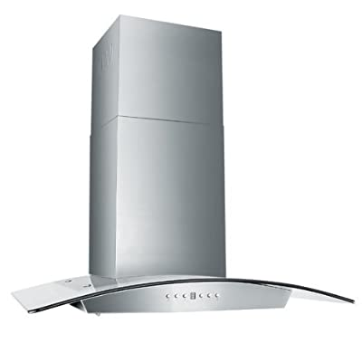 Z Line KZ-36-LED Stainless Steel and Glass Range Hood, 36-Inch