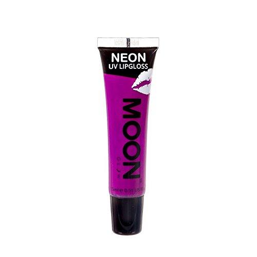 Moon Glow - Blacklight Neon Lip Gloss - 0.5oz Blackcurrant Purple - Scented and glows brightly under UV / Blacklight!