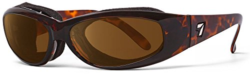 - 7eye SharpView Chubasco Sunglasses, Tortoise Dark Frame, Polarized Copper Lens, Small/Large