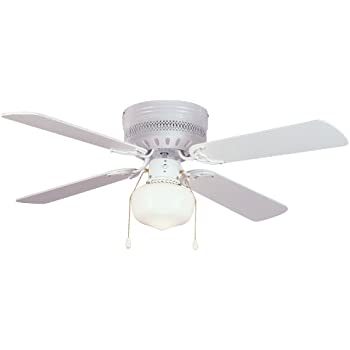 Harbor breeze armitage 42 in white flush mount indoor ceiling fan hardware house 41 5745 trinidad 42 inch flush mount ceiling fan white or bleached oak aloadofball Choice Image
