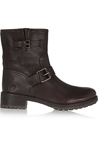 Tory Burch Chrystie Coconut Brown Platform Leather Booties Boots (5.5)
