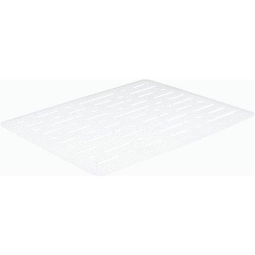 White Sink Mat - Rubbermaid 1G1706WHT Enhanced Microban Antimicrobial Sink Mat, Small, White
