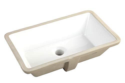 (20.9 Inch Rectrangle Undermount Vitreous Ceramic Lavatory Vanity Bathroom Sink Pure White)