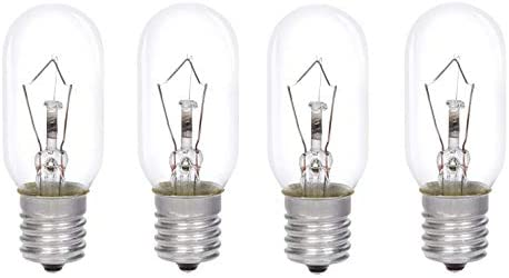 AcornSolution 40W SES Cooker Hood Lamp, E14 Thread, T25, 240V AC, Also Suitable for Ovens [Energy Class E] (4 Pack)