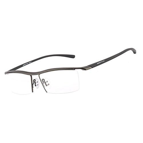 Bertha Men Z Pure Titanium Semi-rimless Eyeglasses Business Optical Frame 8189