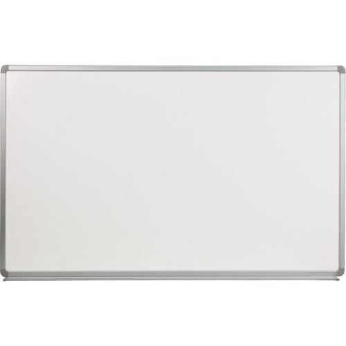 Flash Furniture 5' W x 3' H Porcelain Magnetic Marker (5' Chalkboard Eraser)