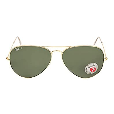ray ban rb3025 aviator 001/58 arista sonnenbrille