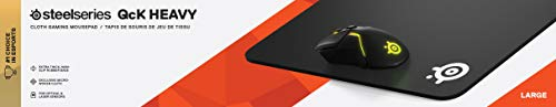 SteelSeries QcK Gaming Surface - Large Thick Cloth - Peak Tracking and Stability - Optimized For Gaming Sensors
