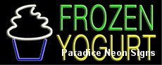 Frozen Yogurt Neon Sign 13 x 32