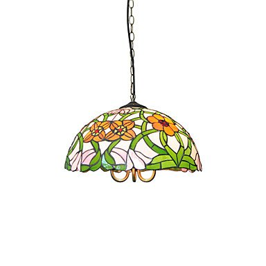 Pendant Light Glass Childrens (MICHEN Diameter 40Cm Tiffany Pendant Lights Glass Lamp Shade Living Room Bedroom Dining Room Kids Room Light Fixture)