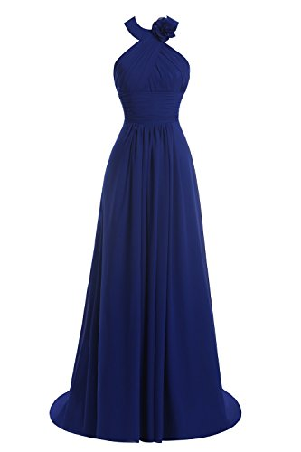 Burgundy Dresses Women's Prom Gown Long Backless Bridal Halter Bridesmaid Bess zwP48qz