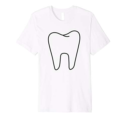 (Premium Funny Tooth Fairy White Costume T)