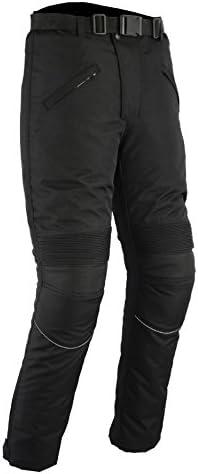 Renforts CE//imperm/éable W36 L30 Pantalon de Moto Noir uni