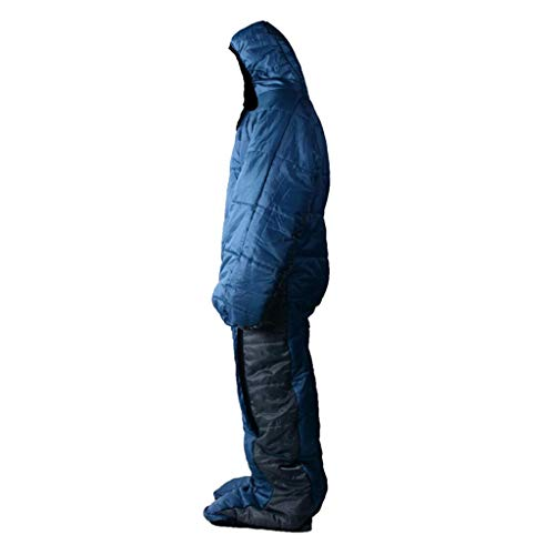 Prettyia Adult Wearable Sleeping Bag with Arms Legs, Zipper Design, Easy to Wear Off - L ()