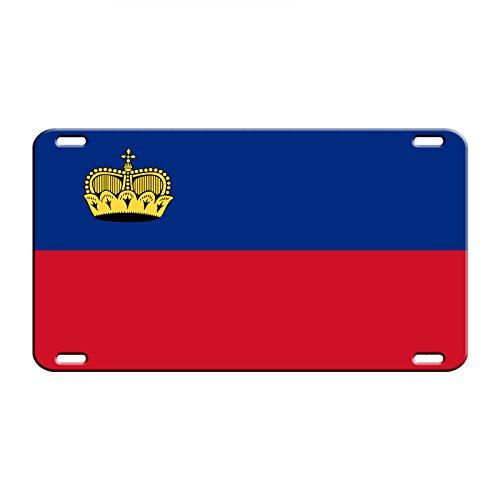 Liechtenstein Country Flag Aluminum Metal Novelty License Plate Tag