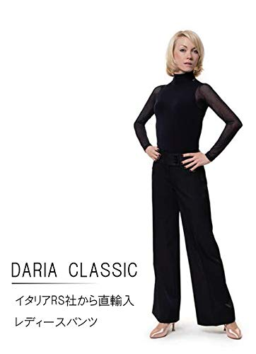 (アールエスアトリエ) RS Atelier 「DARIA Classic(Black)」|女性用パンツ| 社交ダンス|レッスンウェア|ダンス|パンツ|スタンダード|ラテン|女|女性|ストレッチ B071CDDCXX  42(74cm)サイズ