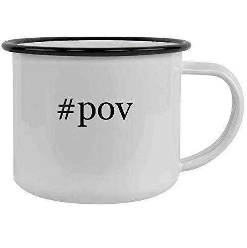 #pov - 12oz Hashtag Stainless Steel Camping Mug, Black ()