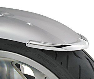 National Cycle Front Chrome Fender Tip for Kawasaki 2003-2008 VN1600A Vulcan 1600 Classic - Chrome - One Size