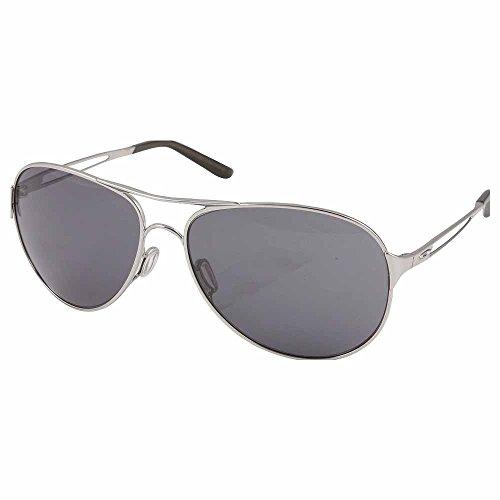 Oakley Caveat Women's Lifestyle Designer Sunglasses/Eyewear - Polished Chrome/Grey