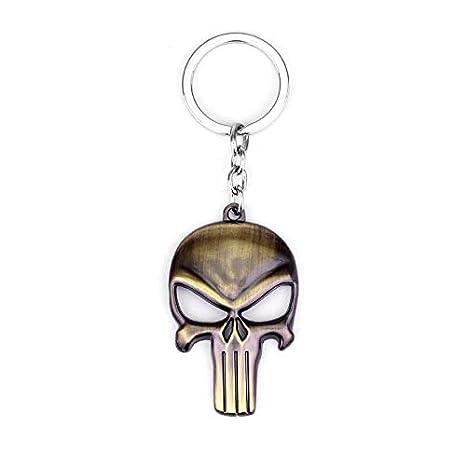 Amazon.com: The Punisher Skull Keychain Punisher Skeleton ...