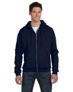 Champion Adult 50/50 Full-Zip Hooded Sweatshirt, Navy, Large ()