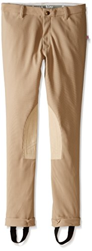 Devon Aire Girls All-Pro Riding Jodhpurs, 14, Beige