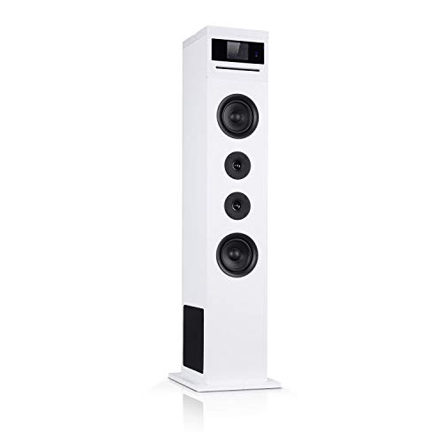 AUNA Karaboom 100-2.1 luidsprekersysteem, internetradio, DAB, DAB + en FM-radio, cd-speler, WiFi-torenluidspreker…