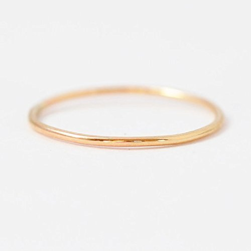 Gold Knuckle Ring: Solid 10K Yellow Midi Ring