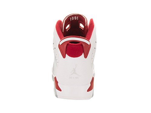 Jordan, Herren Sneaker Wit / Zuiver Platina / Sportzaal Rood