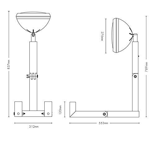 Extra Diseño Mr. Wattson, la Madera de Fresno Flexible lámpara de Mesa en Nardo Gris - Aluminio con LED Bombilla: Amazon.es: Juguetes y juegos