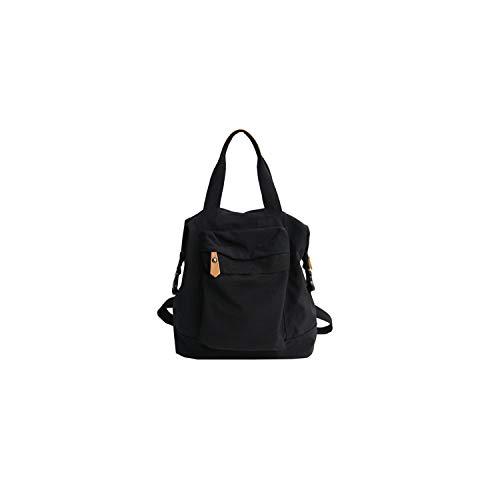 Casual Waterproof Nylon Backpack Women High Capacity Travel Book Bags for Teenage Girls Students Pink Satchel 2019,Black ()