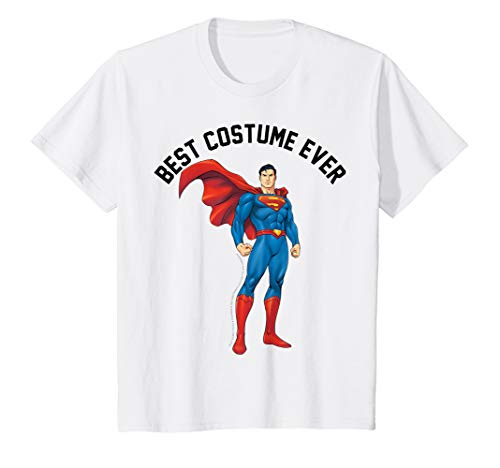 Kids DC Comics Superman Best Costume Ever Text Poster T-Shirt