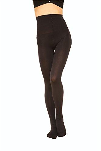 [2 Pairs Women 130D Microfiber Opaque Pantyhose TightsblackM] (Bella Opaque Tights)