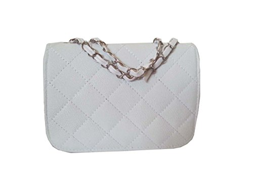 Faux Black Style Pink With White Beige Designer Body Aimerfeel Long Cross Leather Quilted And Handbag Chain PC45xwa