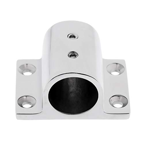 Marine Boat Hand Rail Fitting Stainless Steel 90 Degree Rectangle Stanchion Base Fit for Kayak Base Mount Fitting ()