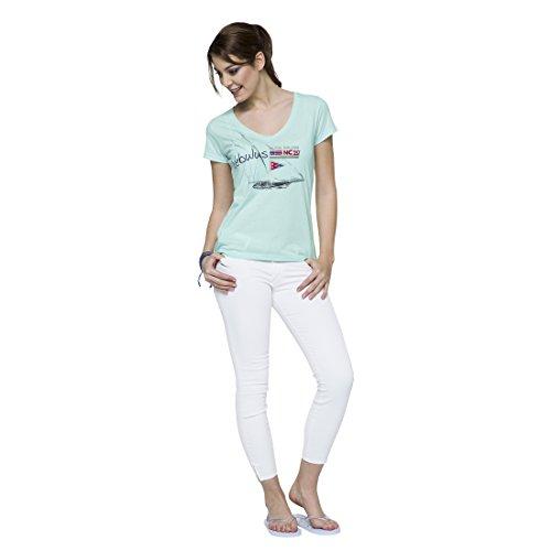 Nebulus Camiseta Manga Corta Retro Verde Menta