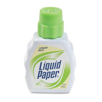 Liquid Paper Stock Colors Correction Fluid, .6 Ounce, Ledger Buff PAP56601