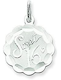 Sterling Silver Sweet Sixteen Disc Charm